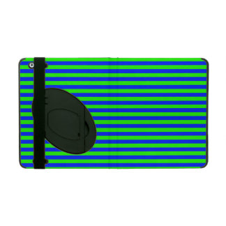 Cool Neon Green And Blue Stripes iPad Covers