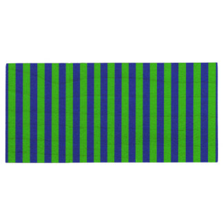 Cool Neon Green And Blue Stripes Wood USB 2.0 Flash Drive