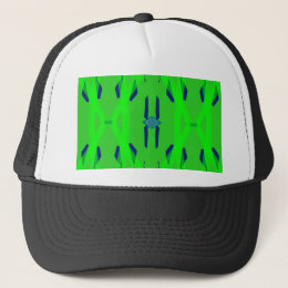 Cool Neon Green Blue Artistic Abstract Trucker Hat