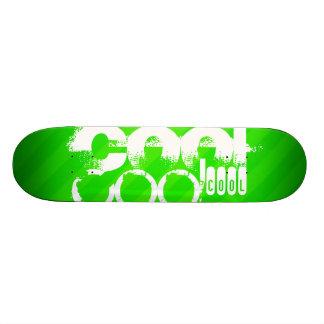 Cool; Neon Green Stripes Skateboard Deck
