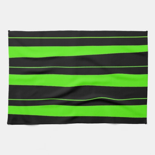 Cool neon lime green and black striped pattern kitchen for Lime black kitchens