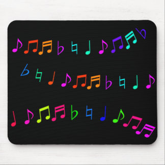Cool Neon Musical Notes Mousepad