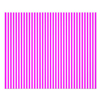 Cool Neon Pink and White Stripes Photo Art