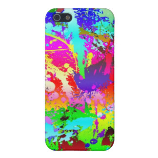 Cool Neon Rainbow Splatter Cover For iPhone SE/5/5s