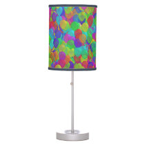 Cool Neon Trendy Colors Balloons Pattern Desk Lamp
