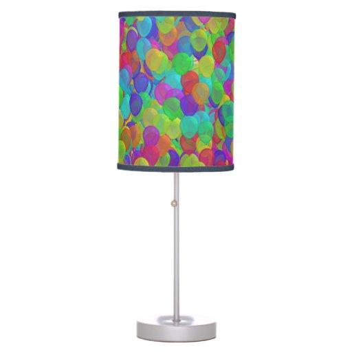 Cool Neon Trendy Colors Balloons Pattern Desk Lamp | Zazzle