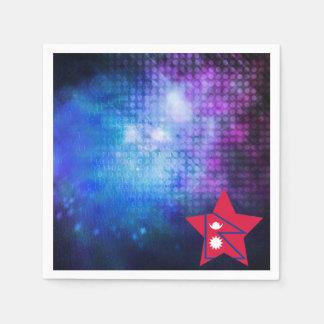 Cool Nepal Flag Star Napkin