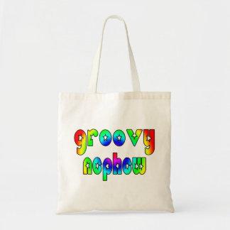 Cool Nephews Birthdays Christmas Groovy Nephew Tote Bag