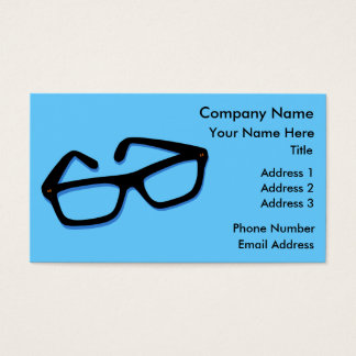 Cool Nerd Glasses Business Card