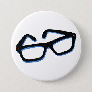 Cool Nerd Glasses Button