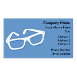 Cool Nerd Glasses in Black & White Business Card Template