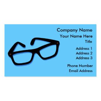 Cool Nerd Glasses in Black & White Business Card