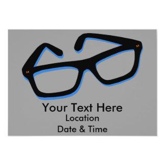 Cool Nerd Glasses in Black & White Card