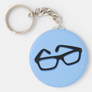 Cool Nerd Glasses in Black & White Keychains