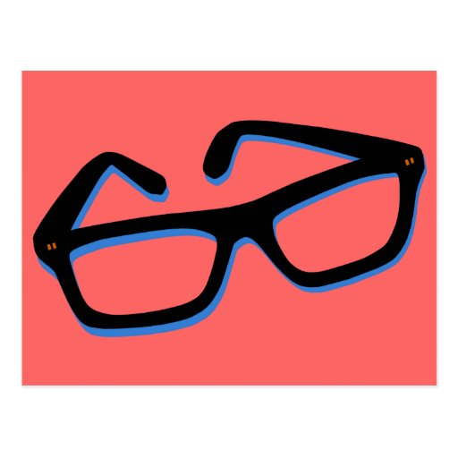 Cool Nerd Glasses in Black & White Post Cards