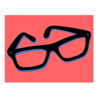 Cool Nerd Glasses in Black & White Postcard