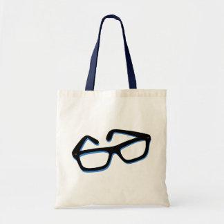 Cool Nerd Glasses in Black & White Tote Bag