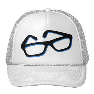 Cool Nerd Glasses in Black & White Trucker Hat