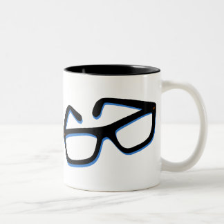Cool Nerd Glasses Two-Tone Coffee Mug