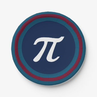Cool Nerdy Geek Students Pi Day Party Paper Plates