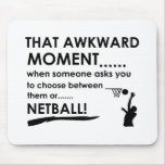 cool netball designs mouse pad