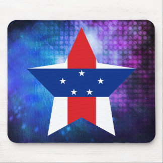 Cool Netherlands Antilles Flag Star Mouse Pad