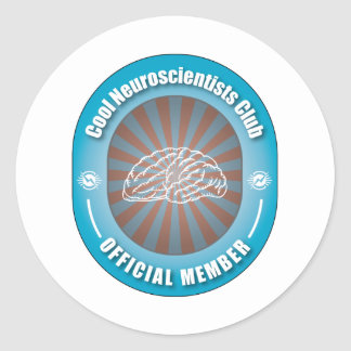 Cool Neuroscientists Club Classic Round Sticker