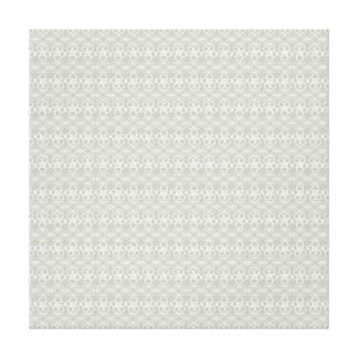 Cool Neutral Gray Floral Doodle Pattern Canvas Print
