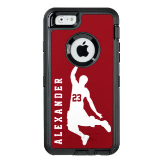 Cool New Custom Sports Red Basketball Player Name OtterBox iPhone 6/6s Case