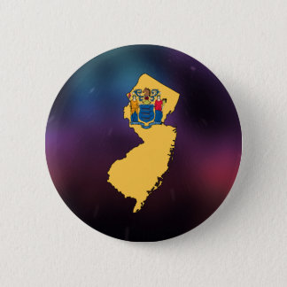 Cool New Jersey Flag Map Pinback Button