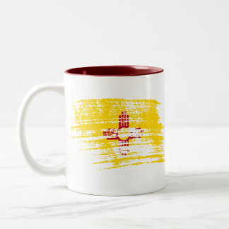 Cool New Mexican flag design Two-Tone Coffee Mug