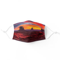 Cool New Mexico Monument Valley Red Desert Sunset Cloth Face Mask