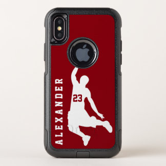 Cool New Sports Red Basketball Player Name OtterBox Commuter iPhone X Case