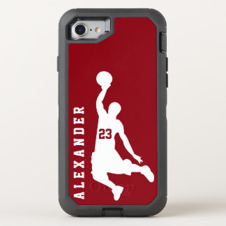 Cool New Sports Red Basketball Player Name OtterBox Defender iPhone 8/7 Case