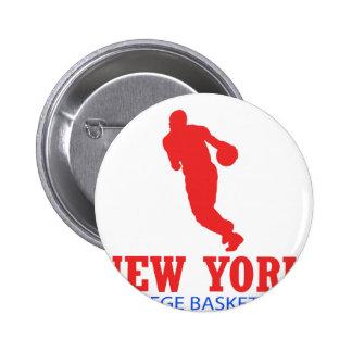 cool New York basketball DESIGNS Pinback Button
