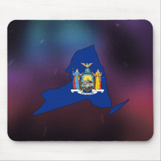 Cool New York Flag Map Mouse Pad
