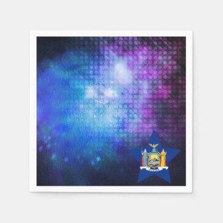 Cool New York Flag Star Standard Cocktail Napkin