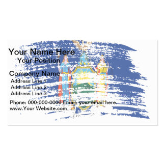 Cool New Yorker flag design Double-Sided Standard Business Cards (Pack Of 100)