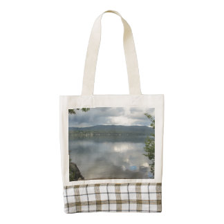 Cool Newfound Lake View Zazzle HEART Tote Bag