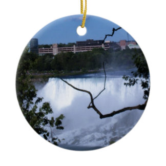Cool Niagara Falls Double-Sided Ceramic Round Christmas Ornament