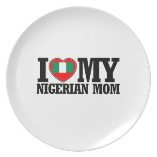cool Nigerian  mom designs Melamine Plate