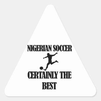 cool Nigerian  soccer designs Triangle Sticker