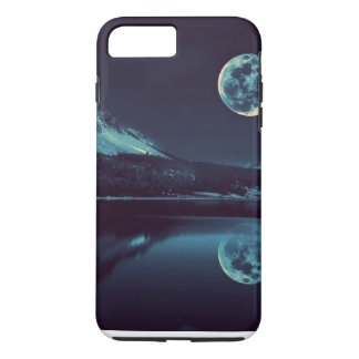 cool night moon view designs iPhone 7 plus case