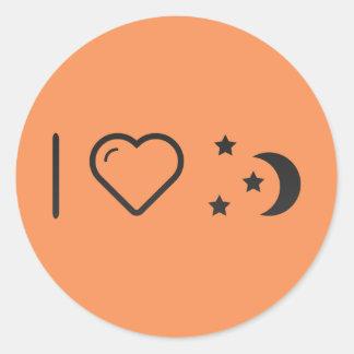 Cool Night Time Classic Round Sticker