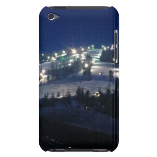 Cool night view with mountain side illuminated Case-Mate iPod touch case