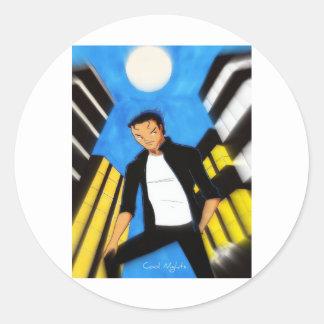 Cool Nights Round Sticker