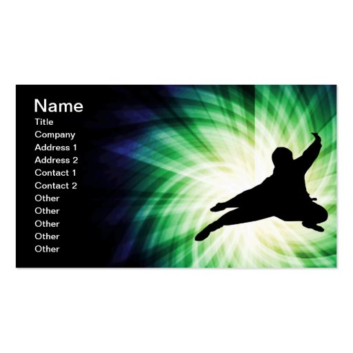 Cool Ninja Double-Sided Standard Business Cards (Pack Of 100)