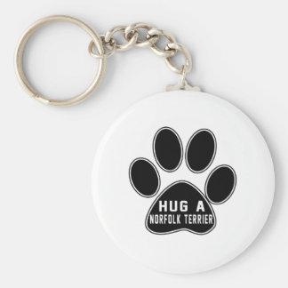 Cool Norfolk Terrier Designs Keychain