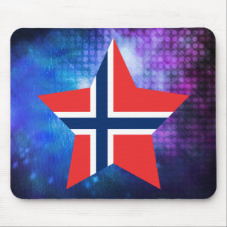 Cool Norway Flag Star Mouse Pad