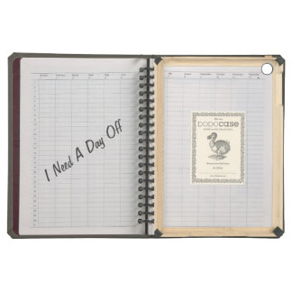 Cool Notebook Texture with Funny Text Case For iPad Air